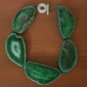 Green Agate Slice Choker